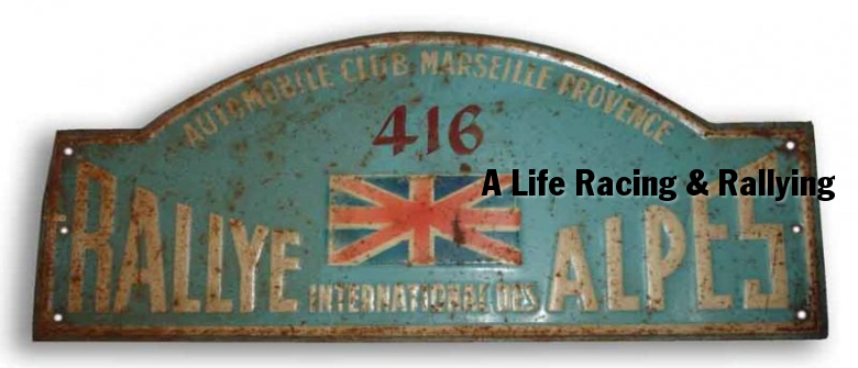 1953 Alpine rally plate - not MYT